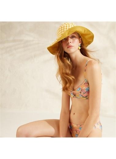 Yargıcı Biye Detaylı Bikini Alt Somon